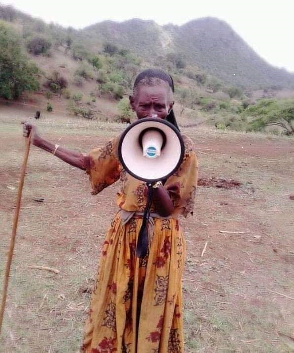 Community sensitization by community elder in Oromia Rgion, 11 April 2020.
